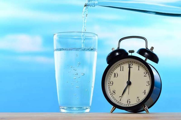 Time and how to drink water.